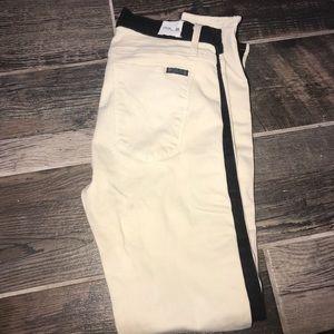 Hudson cream and black jeans